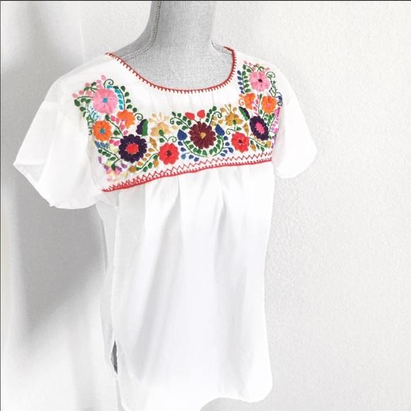5b1f5b8cf1664 NEW Liliana Cruz Mexican Peasant Blouse Size Small